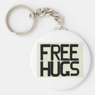 GIVE ME FREE HUGS BASIC ROUND BUTTON KEY RING
