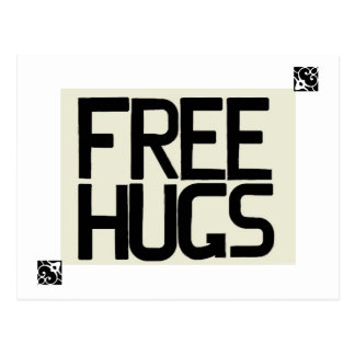 GIVE ME FREE HUGS POST CARDS