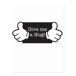 Give me hug postcards