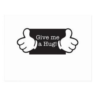 Give me hug postcard
