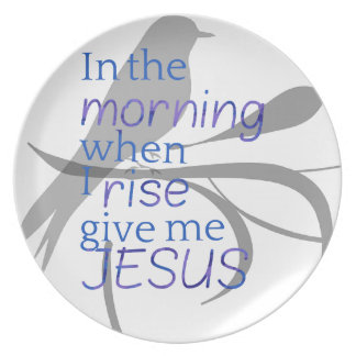 Give Me Jesus Praise and Worship Design Dinner Plate