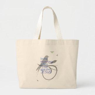 Give Me Jesus Praise and Worship Design Large Tote Bag