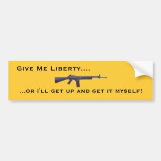Give Me Liberty Bumper Sticker