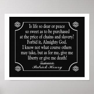 Give Me Liberty jor give me death  - Art Print