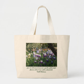 Give me odorous at sunrise a garden of bea... large tote bag