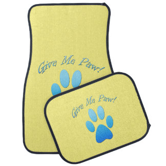 Give Me Paw  (blue) Floor Mat