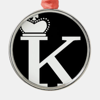 GIVE ME to K logo Silver-Colored Round Decoration