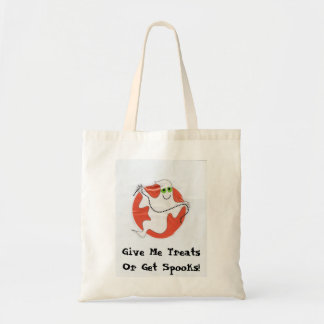 Give Me Treats Or Get Spooks halloween tote bag