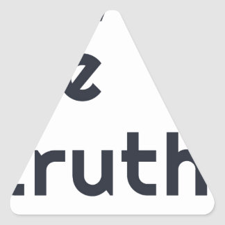 Give me truth. triangle sticker