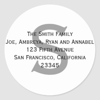 Give me your address (label)! round stickers
