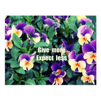 Give more postcard