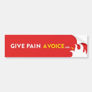Give Pain A Voice Bumper Sticker