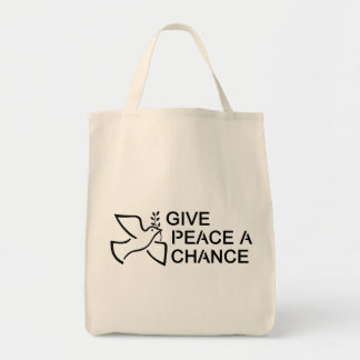 Give Peace a Chance Canvas Bags