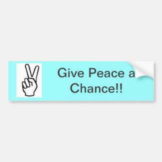 Give Peace a Chance Bumper Sticker