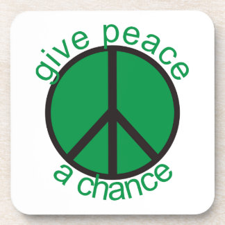 Give peace a chance drink coaster