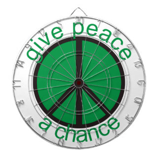 Give peace a chance dartboard with darts