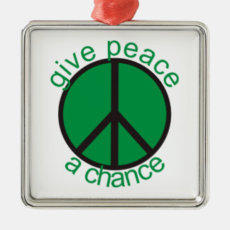 Give peace a chance ornaments