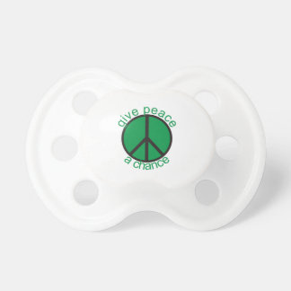 Give peace a chance baby pacifier