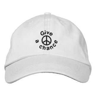 Give Peace A Chance Embroidered Cap