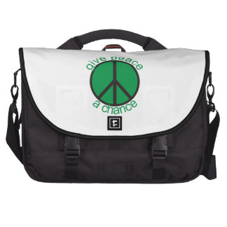 Give peace a chance bags for laptop