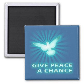 Give Peace a Chance Fridge Magnets