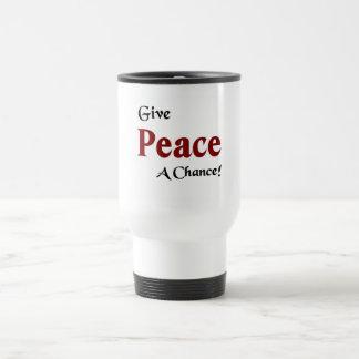 Give peace a chance coffee mugs
