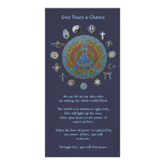 Give Peace a Chance Photo Card Template