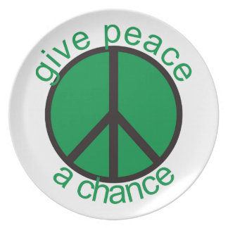 Give peace a chance dinner plates