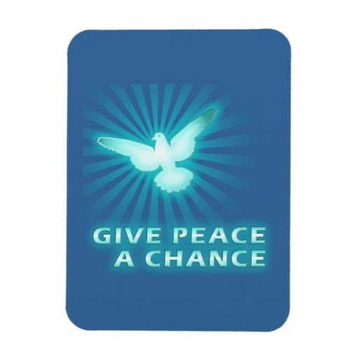 Give Peace a Chance Vinyl Magnet