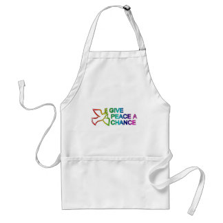 Give Peace a Chance Rainbow Aprons