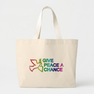 Give Peace a Chance Rainbow Bags