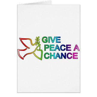 Give Peace a Chance (Rainbow) Greeting Card