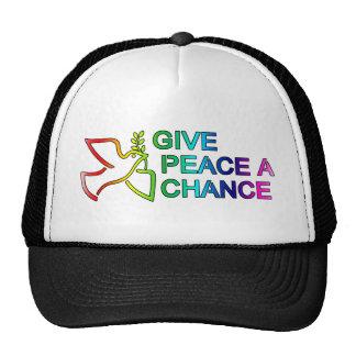 Give Peace a Chance (Rainbow) Hats
