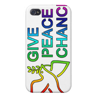Give Peace a Chance (Rainbow)  iPhone 4 Case