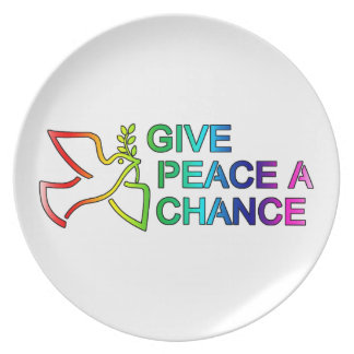 Give Peace a Chance (Rainbow) Plate