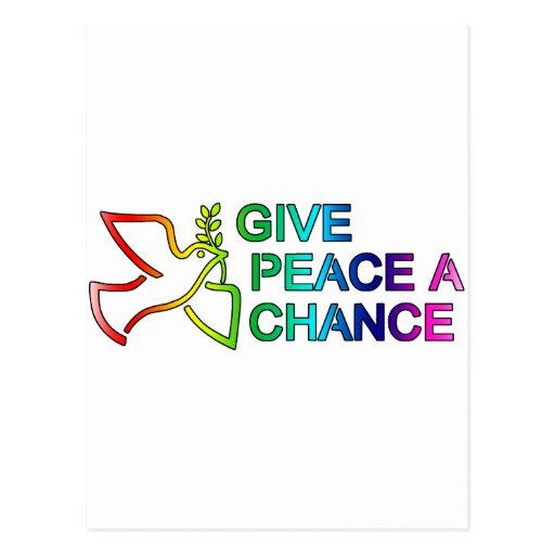 Give Peace a Chance (Rainbow) Postcards