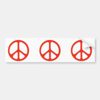 Give Peace a Chance Red Bumper Sticker
