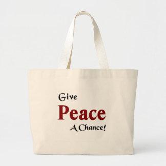 Give peace a chance canvas bag