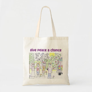 Give Peace A Chance Tote Budget Tote Bag