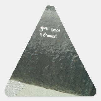 Give Peace A Chance Triangle Sticker