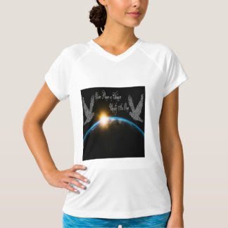 Give Peace a Chance Unite As One Women's V-Neck T-Shirt