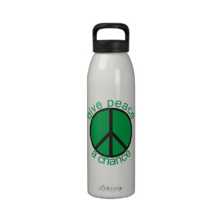 Give peace a chance drinking bottles