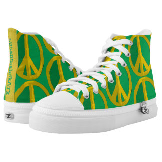 Give Peace a Green Chance High Tops