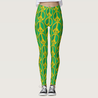 Give Peace a Green Chance Leggings