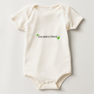 Give peas a chance  BABY ONSIE Baby Bodysuit