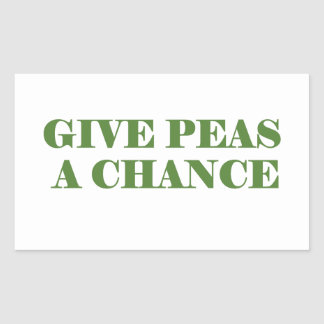 Give peas peace a chance sticker