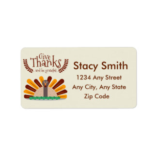 Give Thanks Address Label