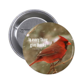 Give Thanks Bible Verse 6 Cm Round Badge