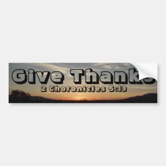 Give Thanks Bumper Sticker
