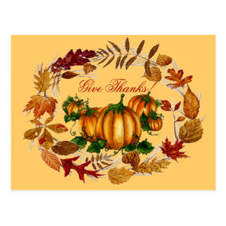 GIVE THANKS by SHARON SHARPE Postcard